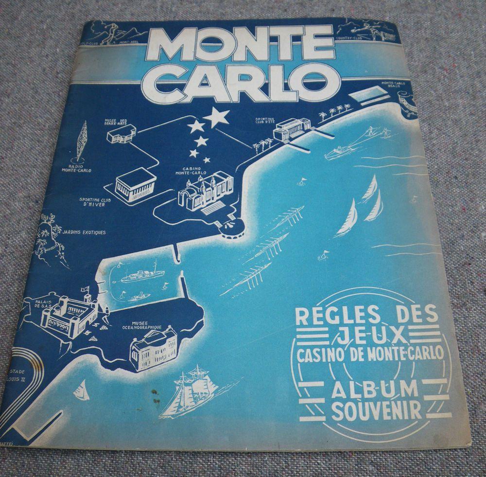 C.1949 VINTAGE MONTE CARLO SOUVENIR ALBUM~REGLES DES JEUX CASINO DE MONTE CARLO