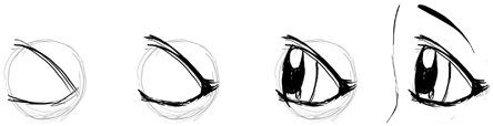 How to Draw Anime / Manga Eyes in Profile Side View