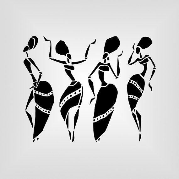 african women africa cutout vector art cricut silhouette cameo die
