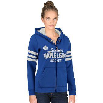CCM Toronto Maple Leafs Women's Blue Full Zip Hoodie