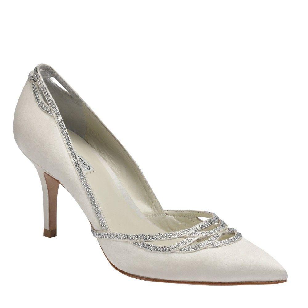 Ivory Wedding Shoes -- Ivory Closed Toe Wedding Heels with Ivory ...