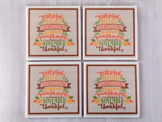 Thanksgiving Coasters Magnets Thanksgiving Gift Hostess Gift Thanksgiving Decoration Thanksgiving Di