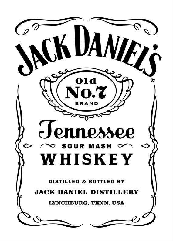 Jack Daniels Vector Eps Jack Daniels Logo Label Templates Jack Daniels Label
