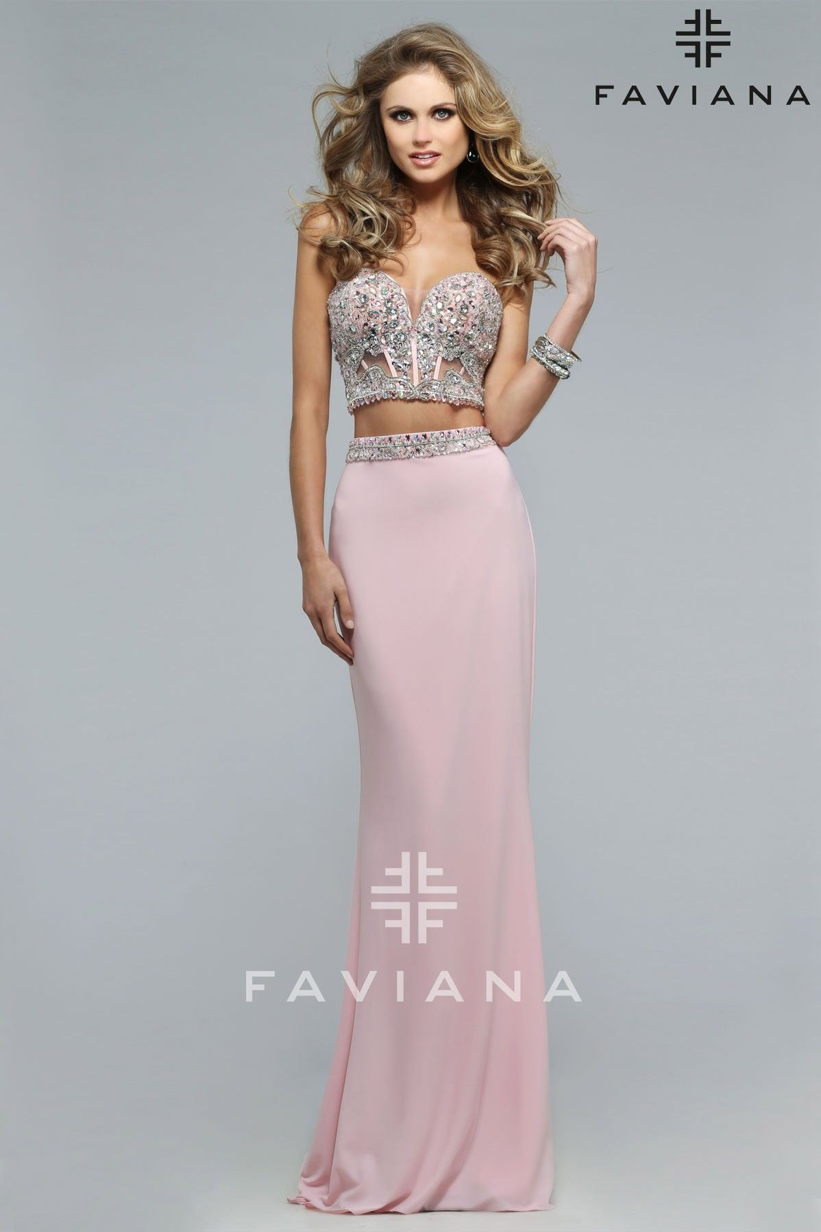 Formal Dress With A Beaded Sweetheart Corset Faviana Prom