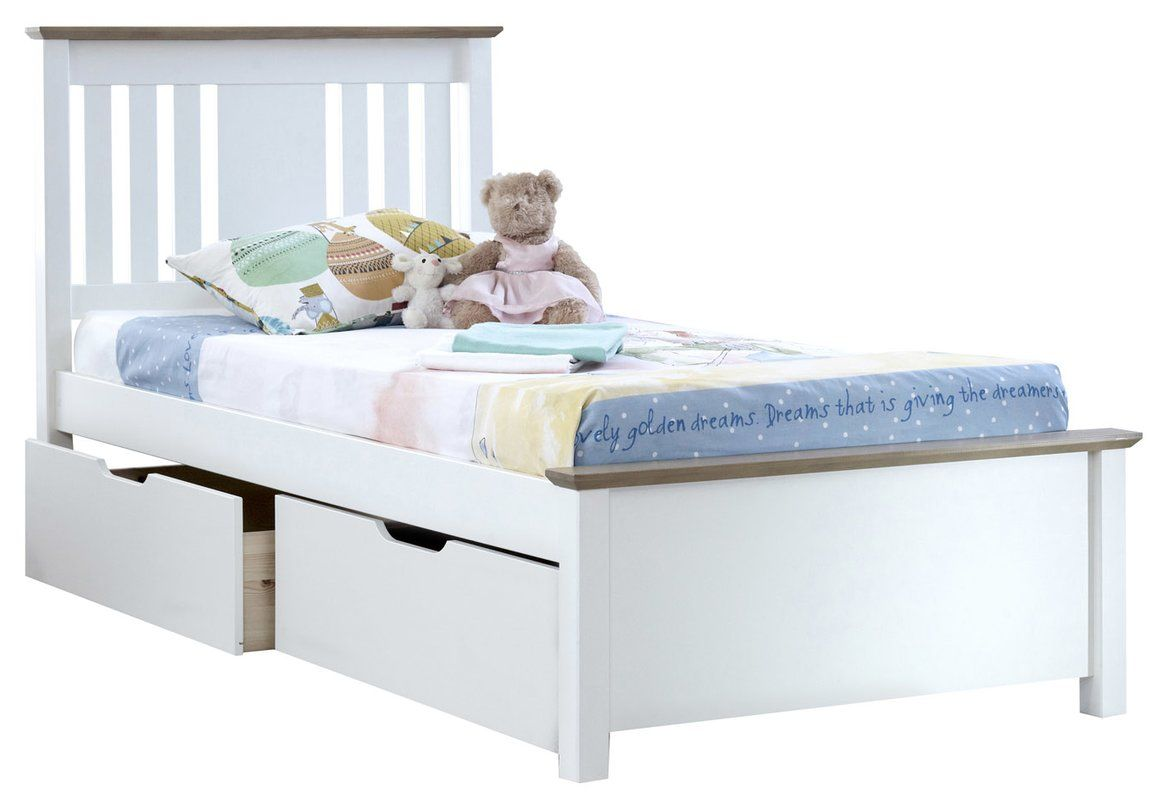 Andres Kids European Single Bed Frame With Drawers Bed Frame With Drawers Single Bed Frame Kid Beds