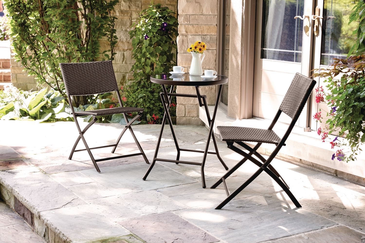 hometrends 3 Piece Wicker Bistro Set Walmart 98.00