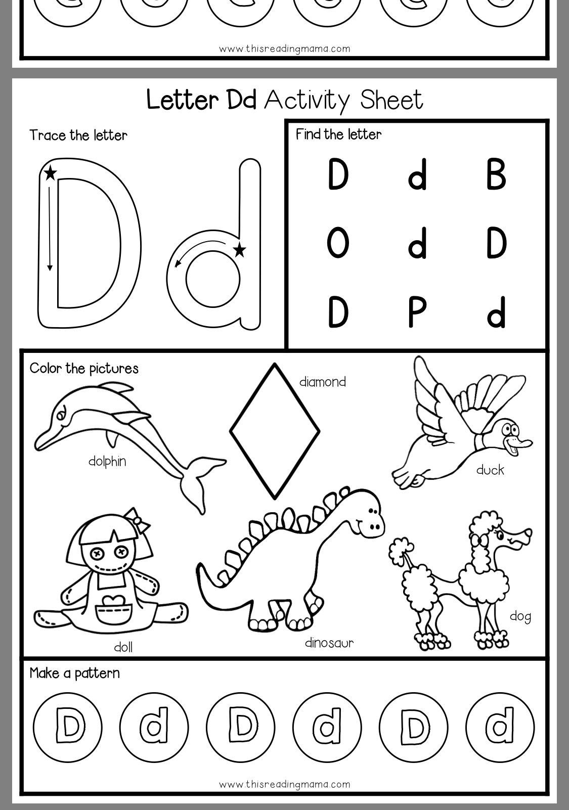 4 Worksheet Preschool Activity Sheets Coloring Pin By