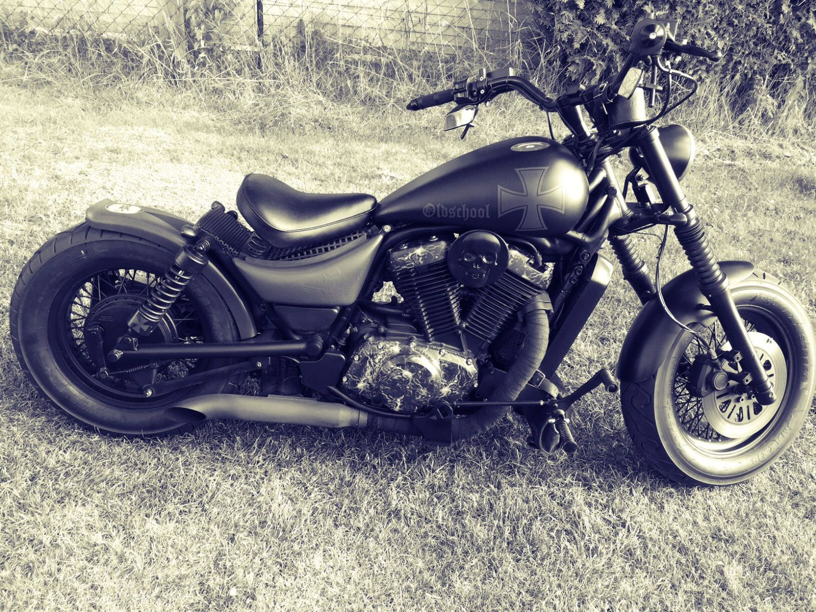 Suzuki LS 650 Bobber Chopper Umbau Als Cruiser In Machern