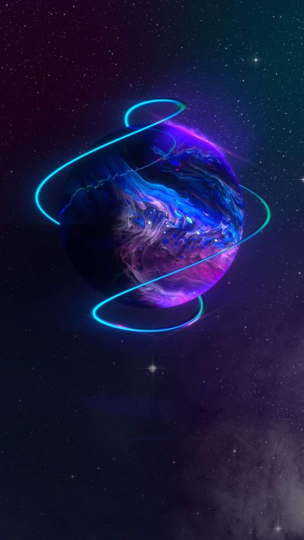 Neon Planet iPhone Wallpaper - iPhone Wallpapers