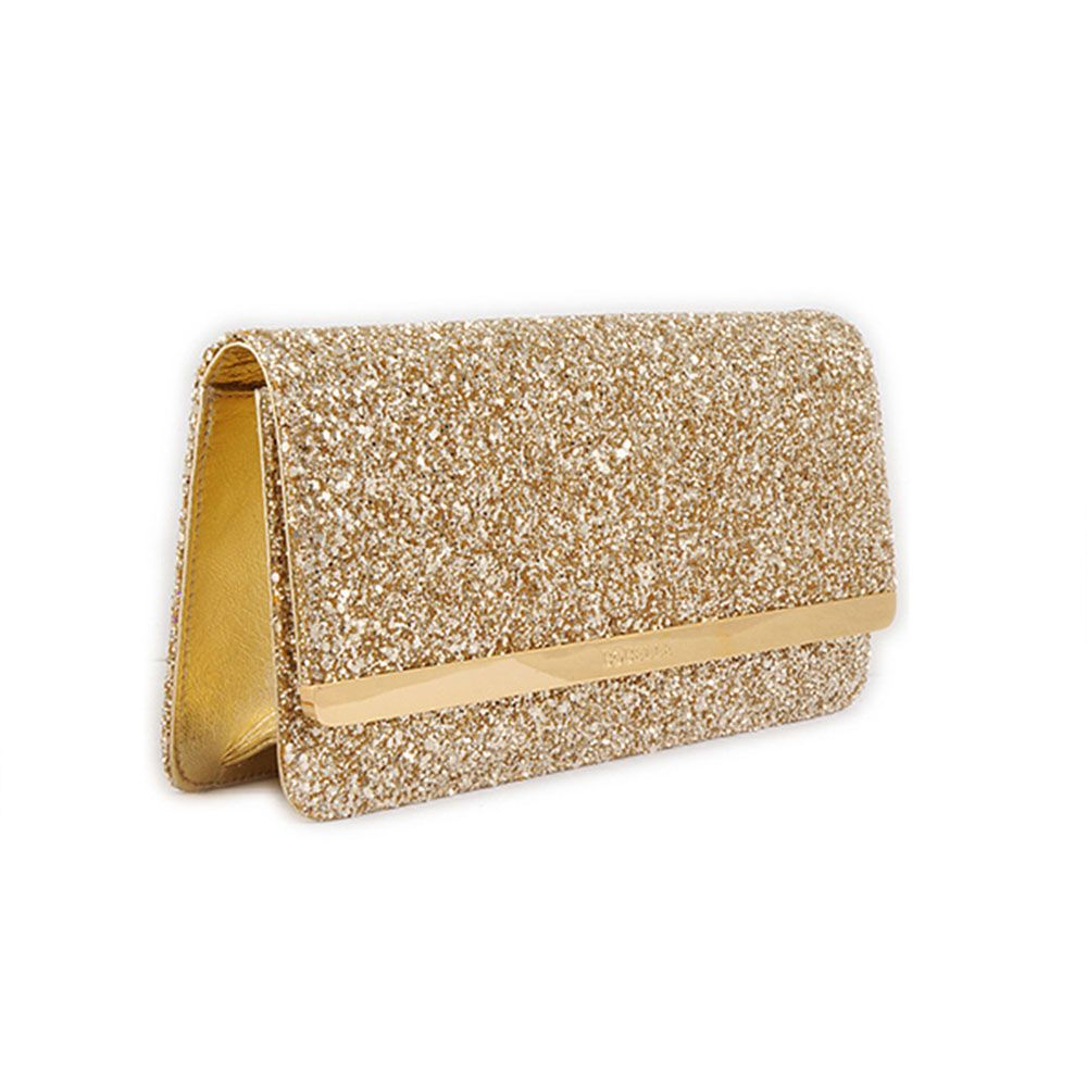 Gold Glitter Evening Bag Clutch Bag Side View | Purses | Pinterest ...