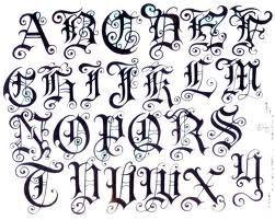 Tattoo Font I Like The J  Font Ideas    Fonts