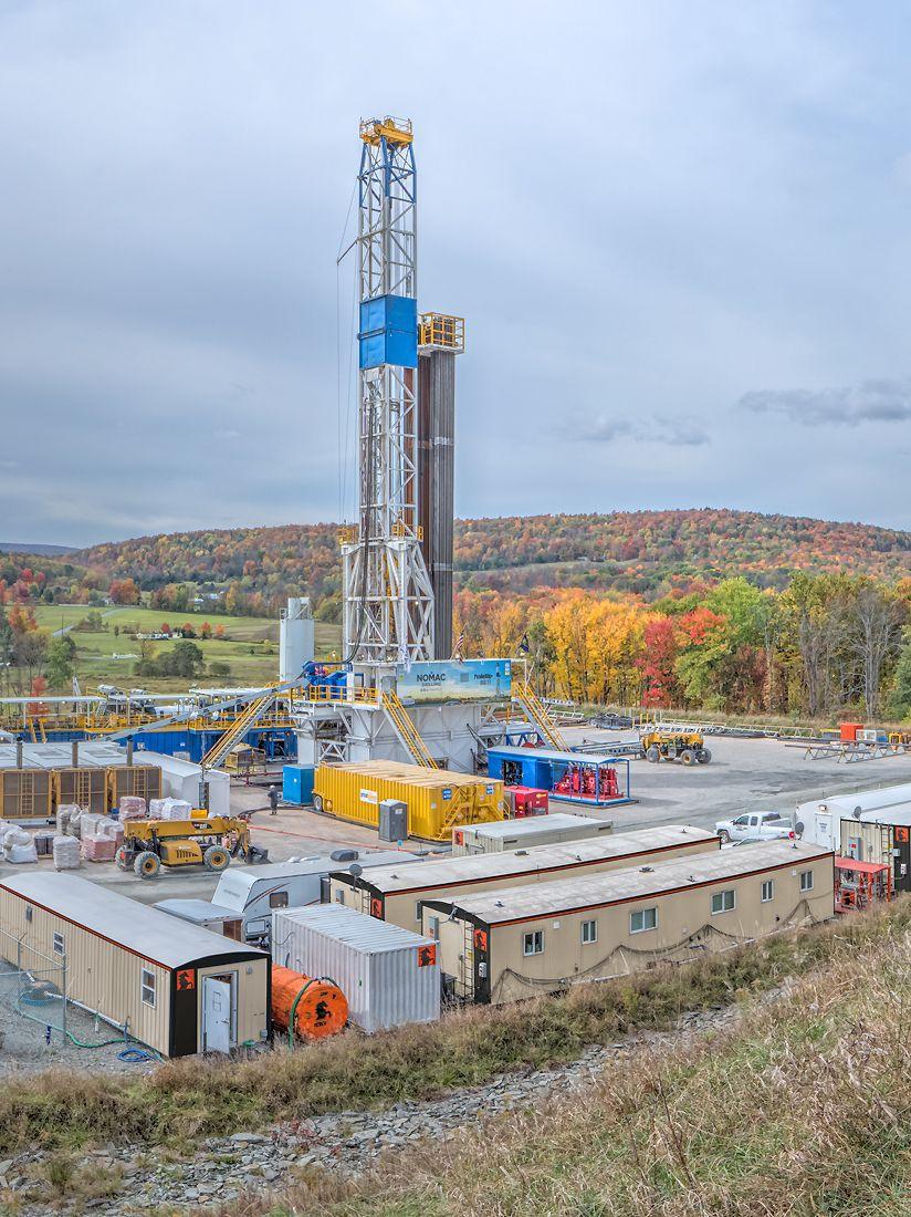 Autumn susquehanna county pennsylvania drilling rig