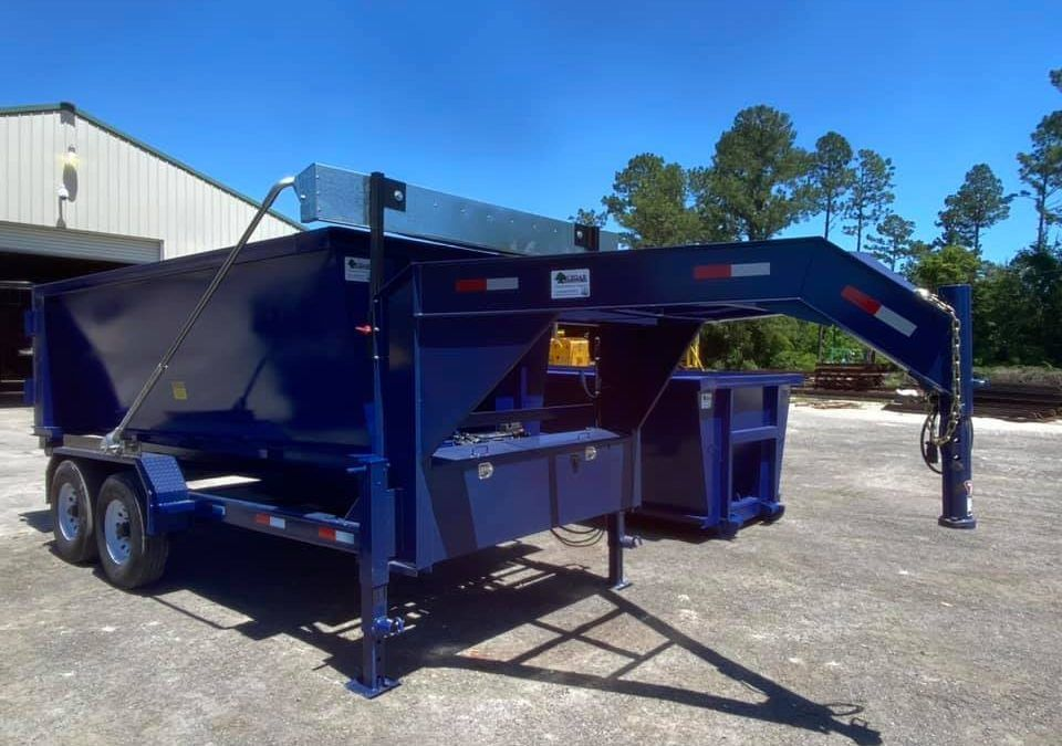 Roll Off Dump Trailers Can Be A Great Alternative To A Dump Trailer They Have The Versatility Of Having A Flatbed Or Dumpster In 2020 Dump Trailers Dumpsters Dumpster