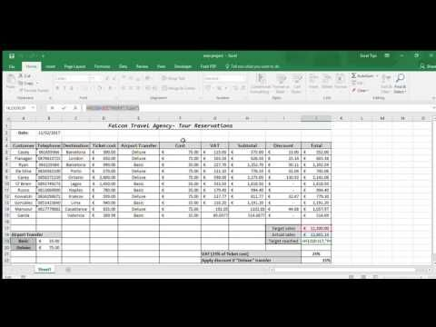 Excel Example of Travel Agency Spreadsheet Travels Pinterest