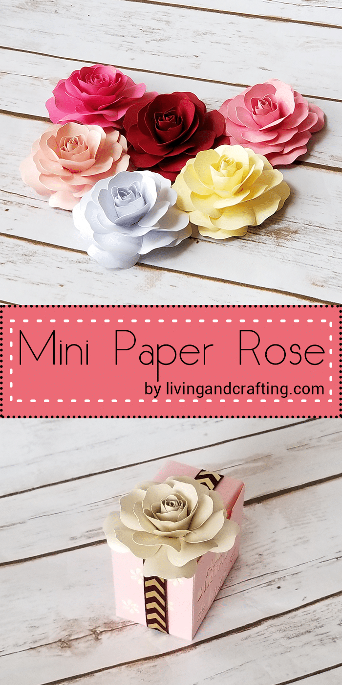 Mini Paper Rose Living And Crafting In 2020 Paper Flowers Diy Paper Roses Diy Paper Roses