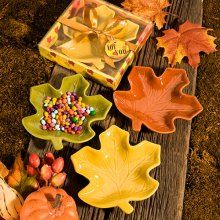 Autumn Magic Collection leaf candy dishes $1.64