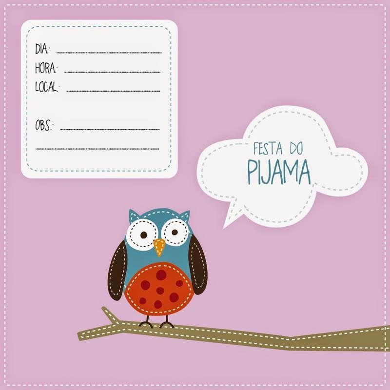 27 Convites Para Festa Do Pijama Continue Vendo Convite