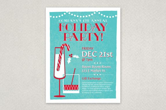 Festive Holiday Party Poster Template - Grab the attention of your