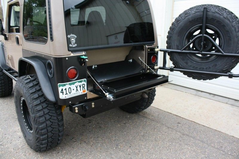 Rokmen Drop Down Aluminum Tailgate W Storage Compartment I Love