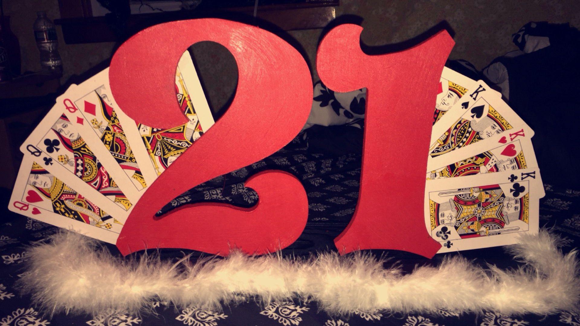 Las Vegas Theme 21st Diy Birthday Decor