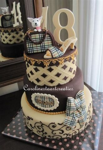 KatieSheaDesign Cakes Burberry Cake Cake Let