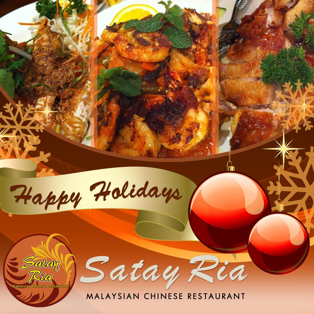 May The Blessings Of Christmas Be With You Today And Always From Satay Ria Christmas Merrychristmas Satayria Satay Chinese Restaurant Restaurant