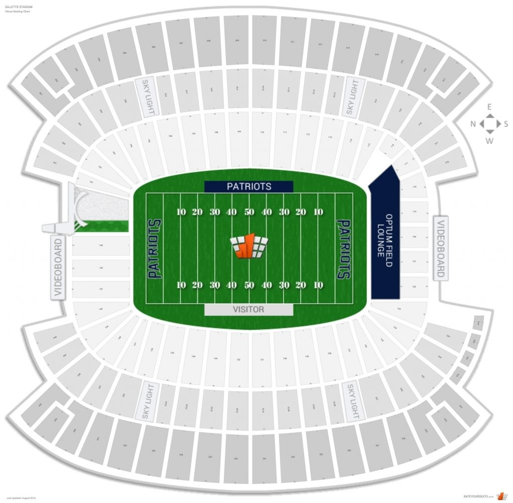 The Incredible Gillette Stadium Virtual Seating Chart Di 2020