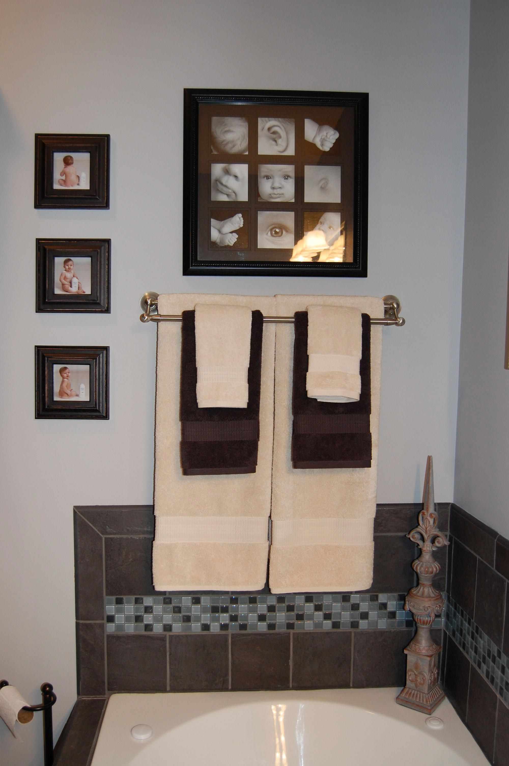 Brown Bathroom Decor Items Tealandbrownbathroomdecor Brown Bathroom Decor Brown Bathroom Bathroom Towel Decor