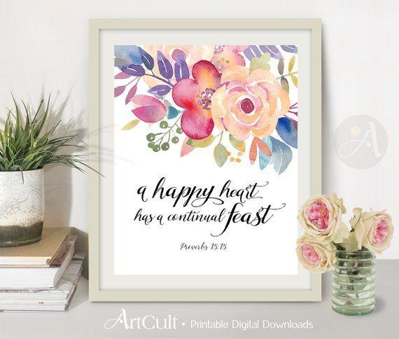 Printable Wall Art Digital Download Print Scripture Bible Verse