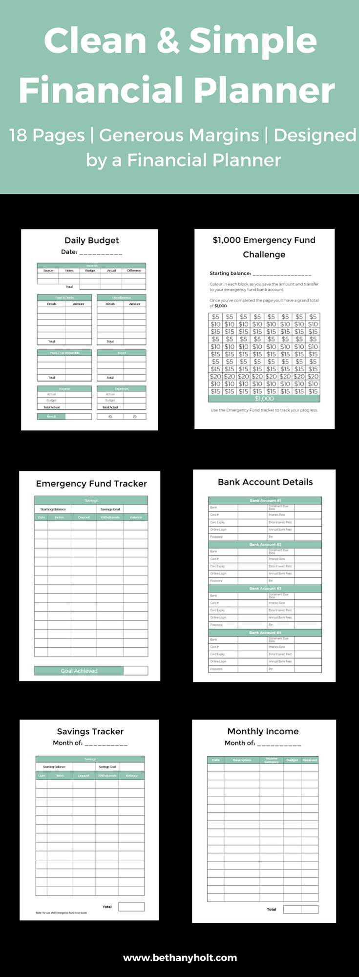 planner financial budget printable budget planner budgeting