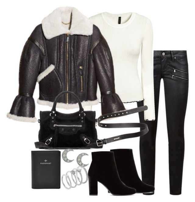 """Untitled #3068"" by theeuropeancloset on Polyvore featuring Paige Denim, Burberry, Balenciaga, Yves Saint Laurent, Sydney Evan, Vince Camuto, FOSSIL and Acne Studios"