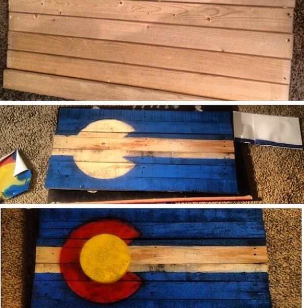 Pin By Lexi Minott On Sweet Home Colorado Colorado Flag Art Wood Craft Projects Colorado Wall Art