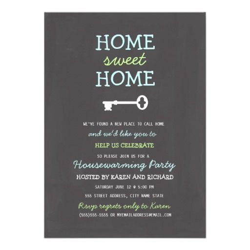 Hello Home Sweet Home Housewarming Invite Home Sweet Home
