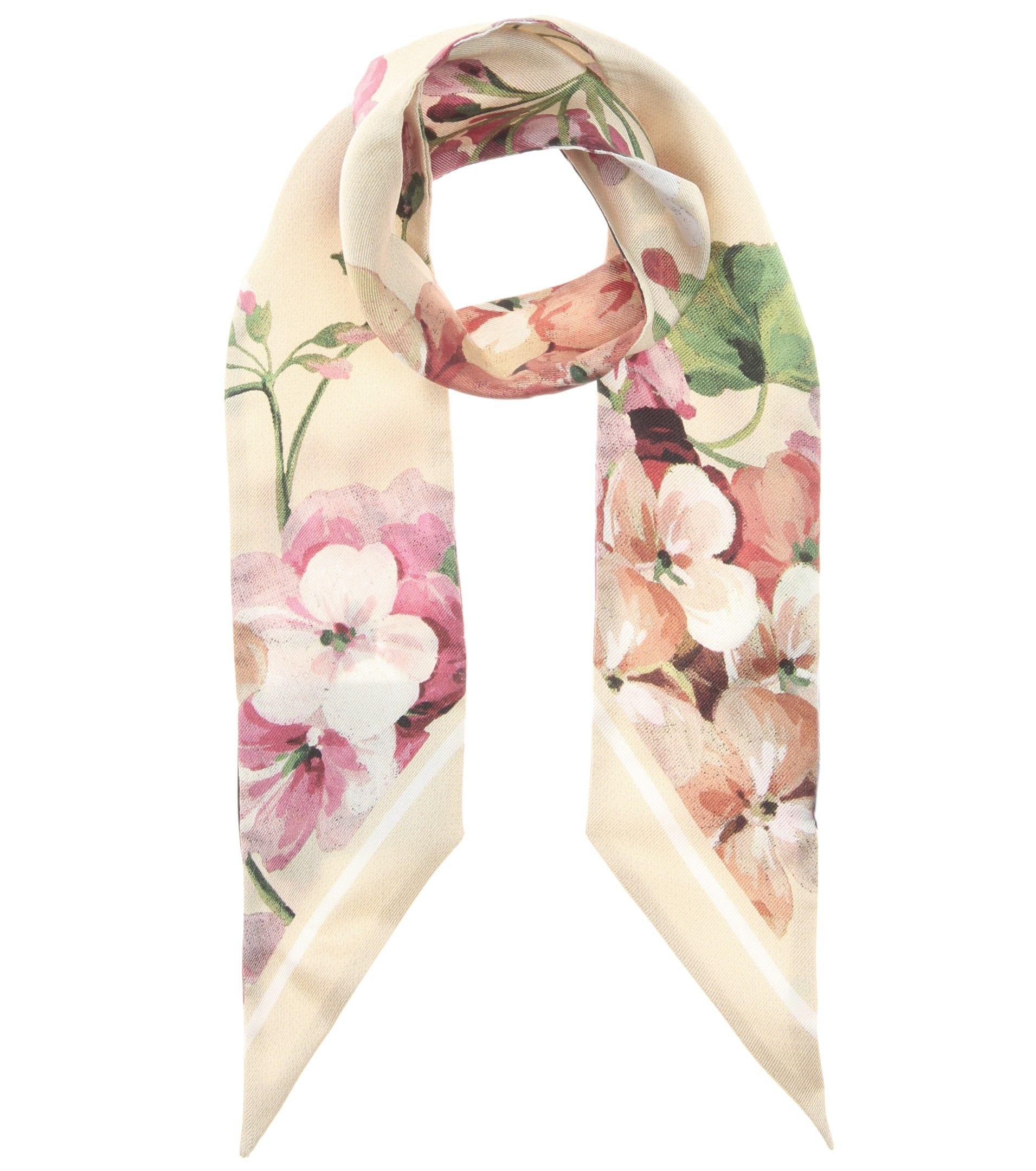 mytheresa.com - Foulard à imprimé floral en soie - Luxe et Mode pour femme - Vêtements, chaussures et sacs de créateurs internationaux