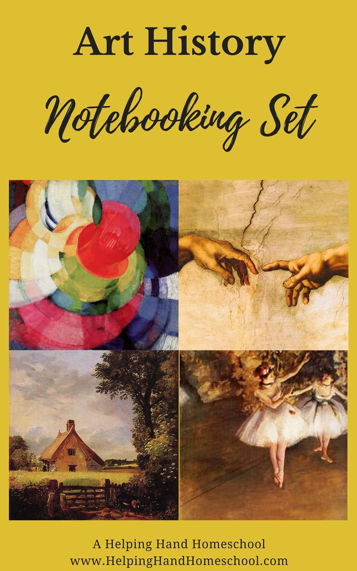 Photo of Notebooking pages for your art history studies!
