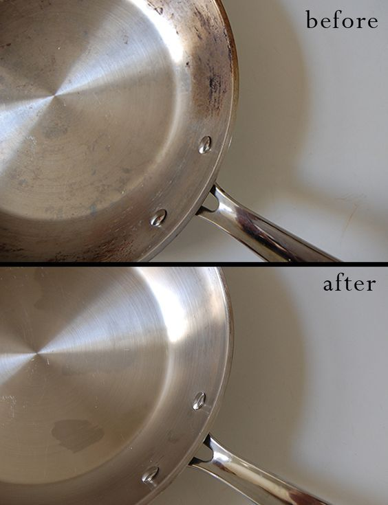 How To Clean Burnt Stainless Steel Pots And Pans Cleaning