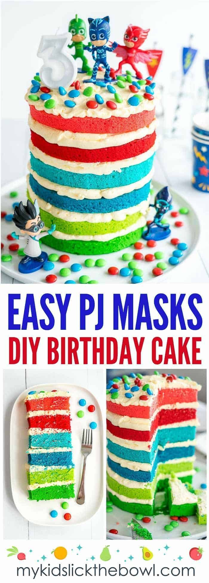 Pj Masks Cake Recipe Diy Birthday Cake Little Girl Birthday