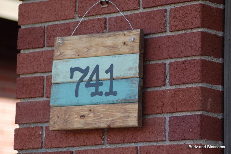 Rustic Wood House Number Sign Pallet Wood Address Number Sign Custom Rustic Wood House Number Sign C House Numbers House In The Woods Wood Doors Interior