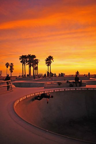 """DONE - Started staying in Venice lots in 2012, love it there """"Venice Beach California Skate Park Sunset"""""""