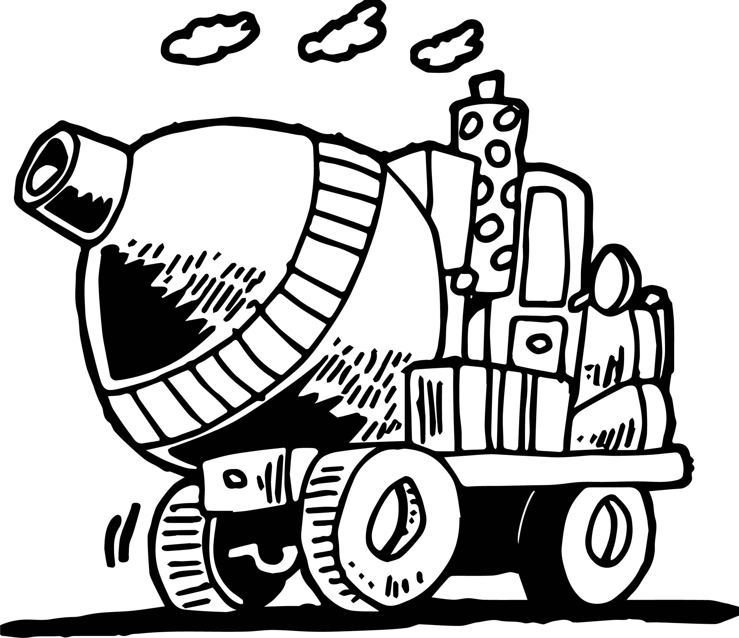 Going Cement Truck Coloring Page Truck Coloring Pages Coloring