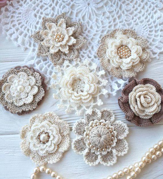 7 items crochet flowers PATTERNS #crochetflowerpatterns