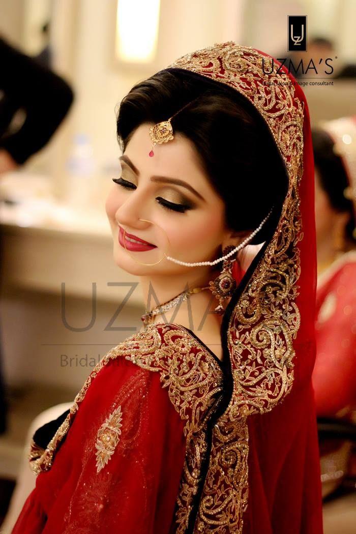 Traditional Makeup With Red Lehnga On Her Barat Makeup By Uzma S Beauty Salon Pakistani Bridal Makeup Pakistani Bridal Makeup Red Beautiful Bridal Makeup,Ninang Formal Dress For Wedding Principal Sponsors Philippines