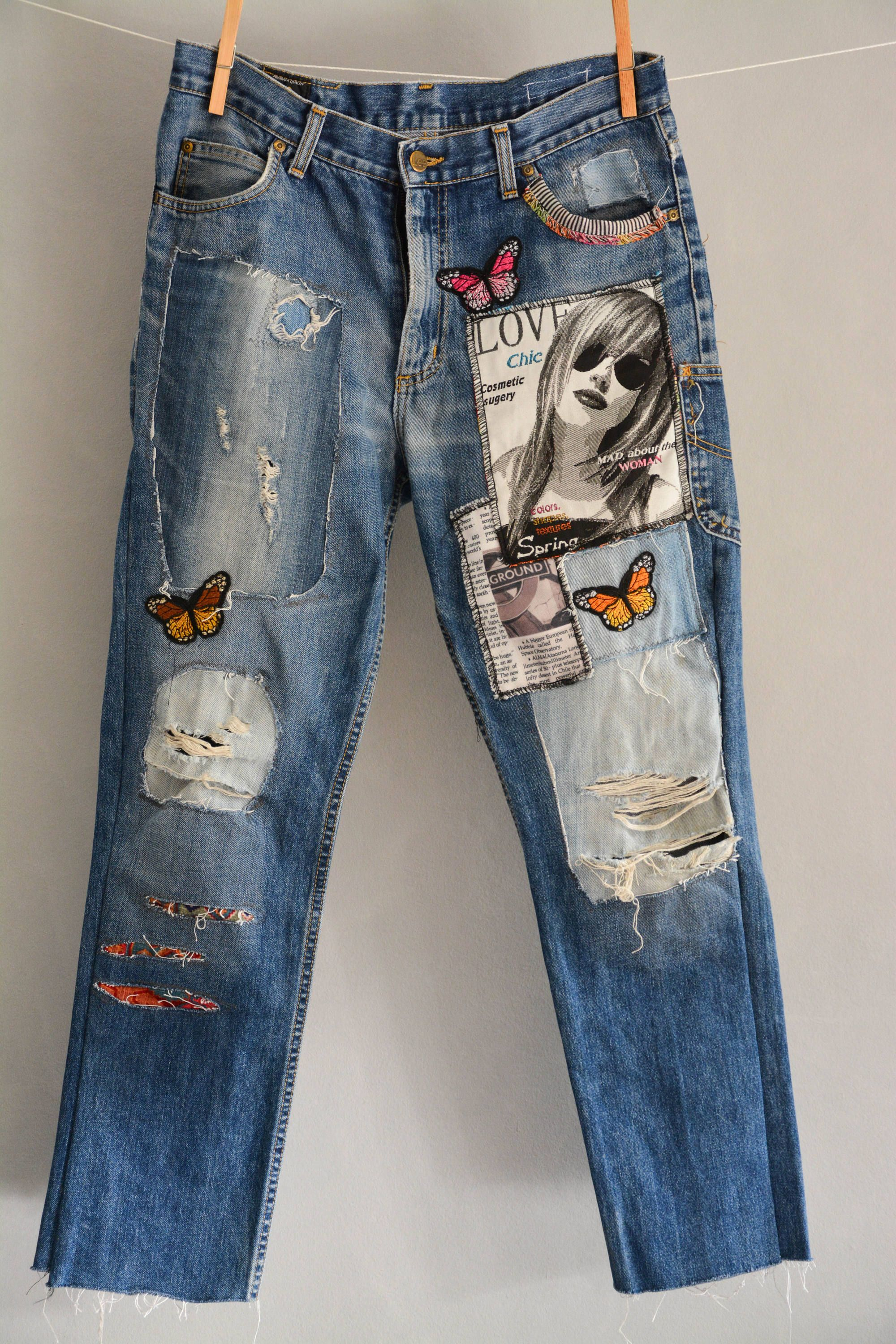 90s Worn In Faded Wash Jeans High Waist Denim Hipster Mom Burnout Jeans Vintage Distressed Jeans Womens size 8