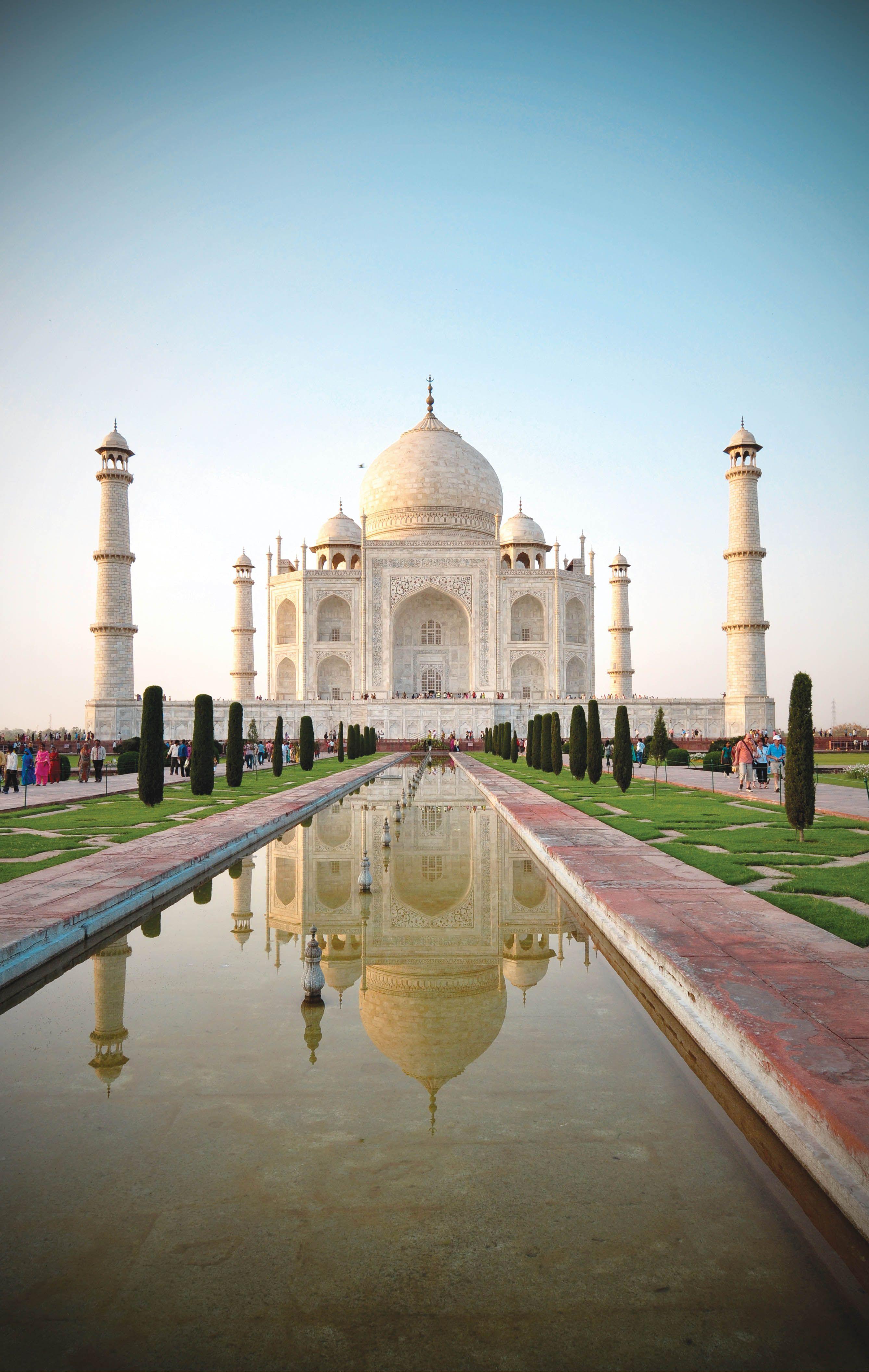 The serene Taj Mahal in Agra, India. Photo by Angela Strangis