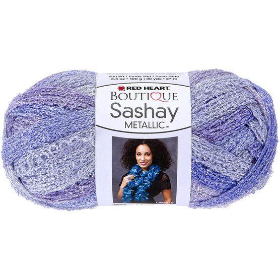 Red Heart Boutique Sashay Metallic Yarn | Sassy Fabric | Pinterest