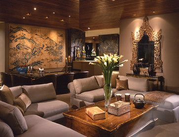 Asian Design Living Room Impressive Living Room  Asian  Living Room  Los Angeles  Donna Livingston Inspiration