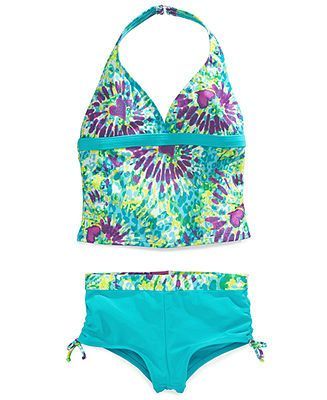 c35f407668 Angel Beach Girls' 2-Piece Tankini Boyshort Swimsuit - Kids - Macy's ...