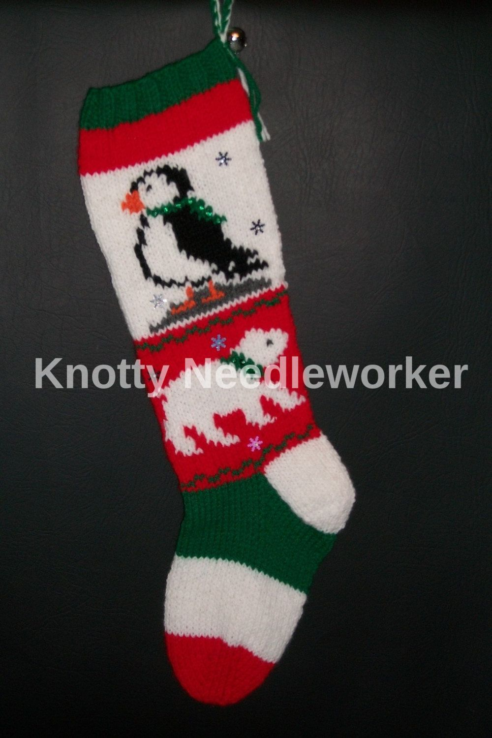 PRINTED PATTERN ONLY 2 in 1 Polar Pals Hand Knitted Christmas ...