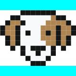 Pixel Tete De Chien Pixel Art Facile Pixel Art Pixel Art