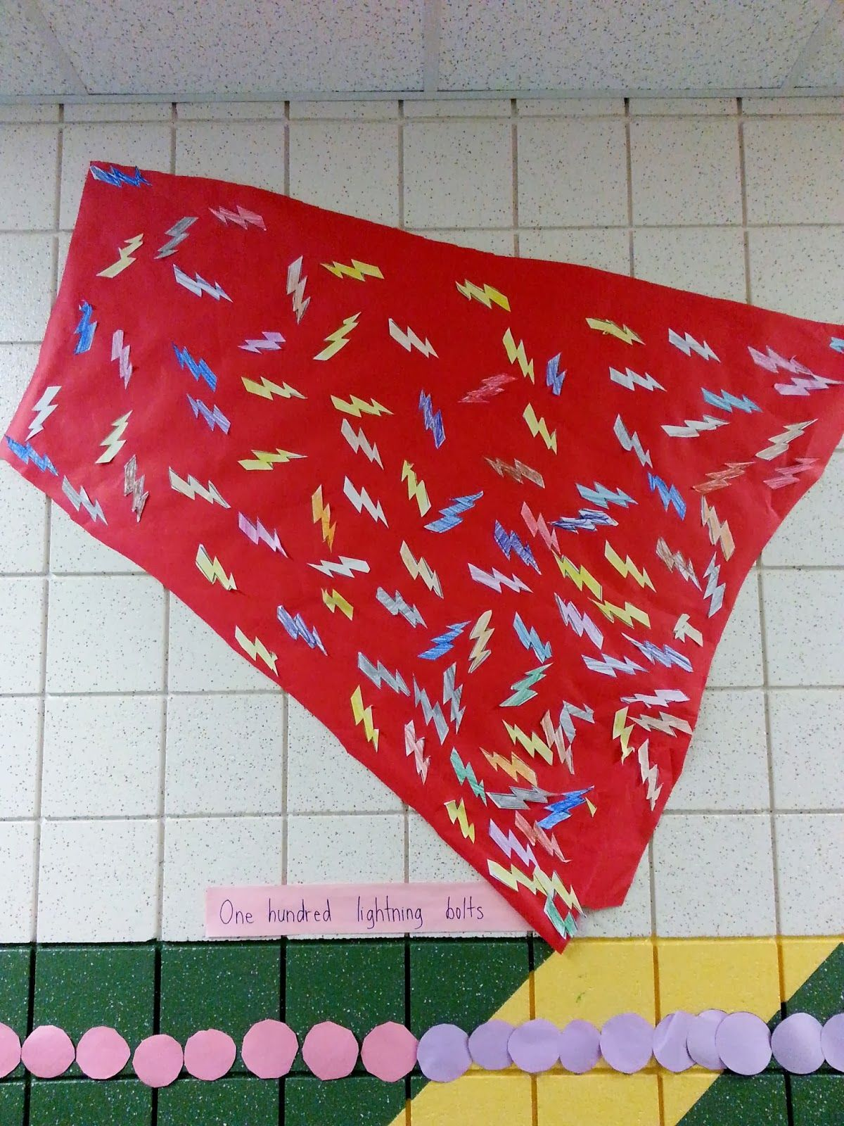 Our 100th Day Week Activities 100 Lightening Bolts On A Superhero Cape